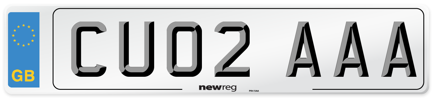 CU02 AAA Number Plate from New Reg