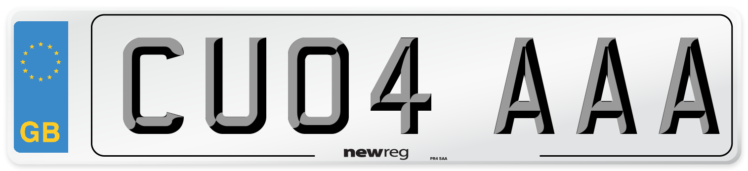 CU04 AAA Number Plate from New Reg