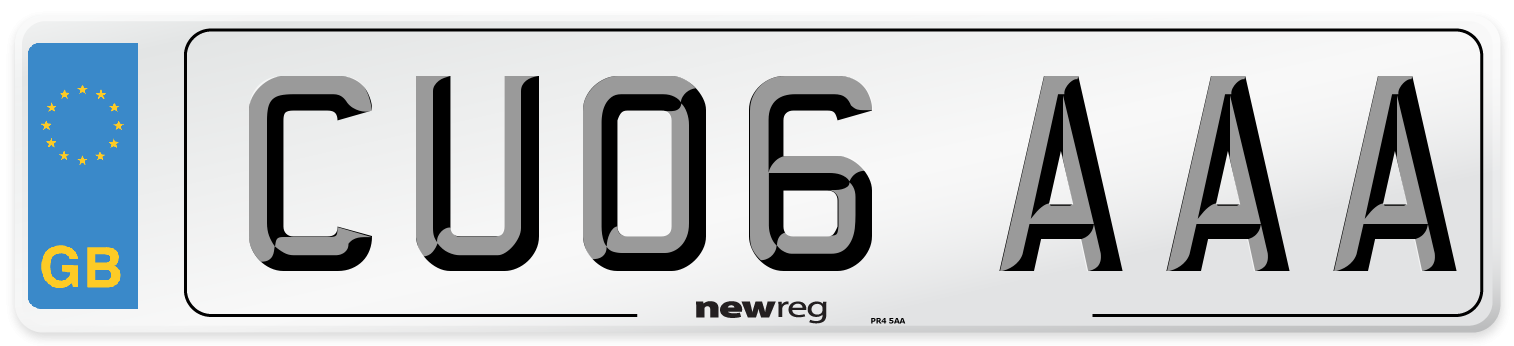 CU06 AAA Number Plate from New Reg