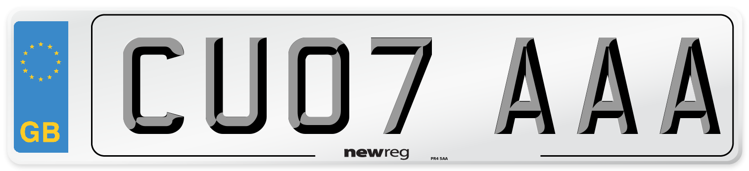 CU07 AAA Number Plate from New Reg