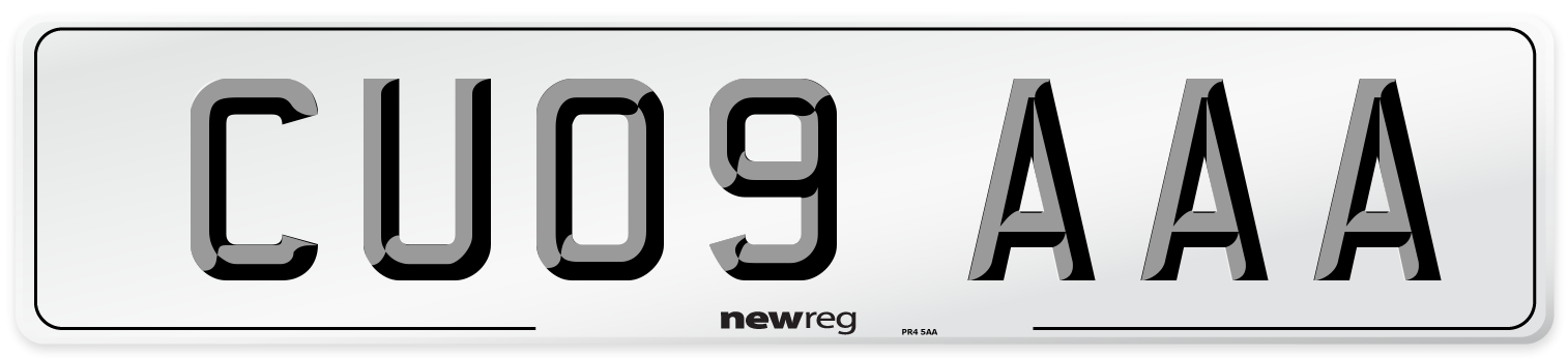 CU09 AAA Number Plate from New Reg