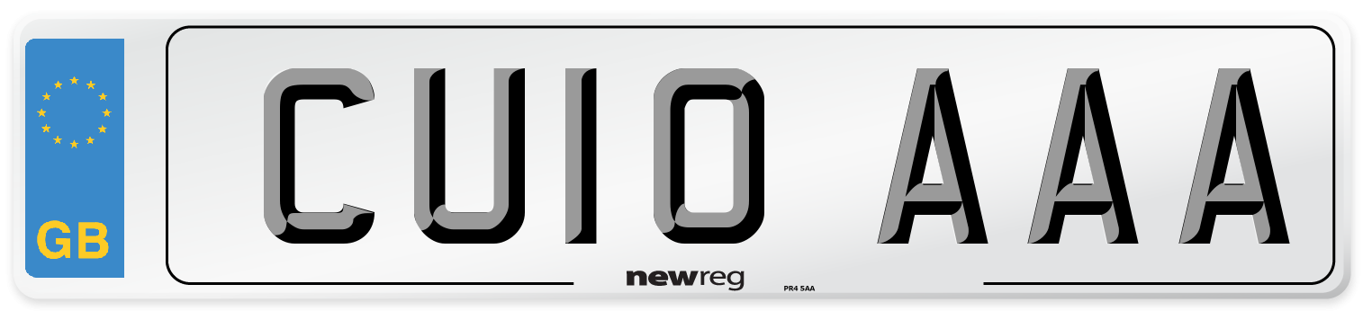 CU10 AAA Number Plate from New Reg