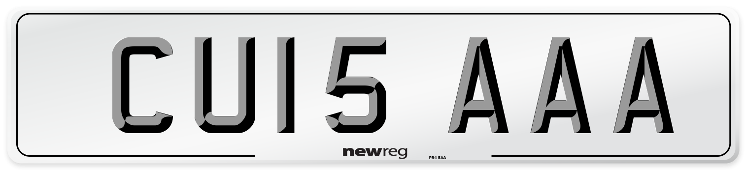 CU15 AAA Number Plate from New Reg