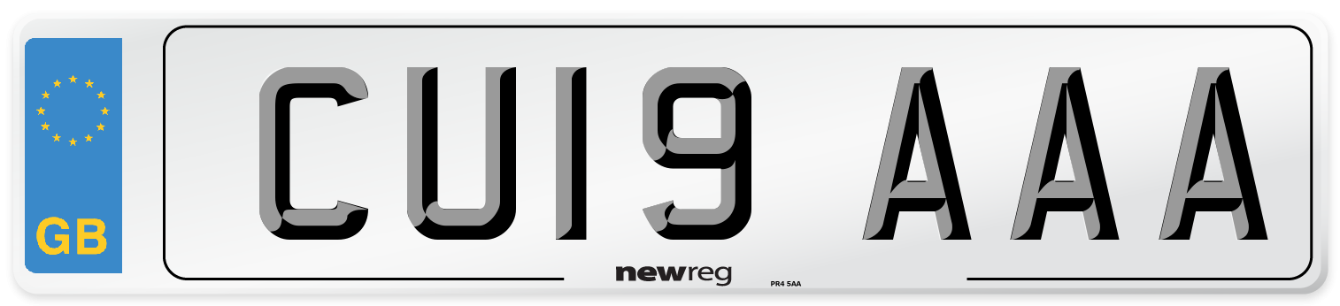 CU19 AAA Number Plate from New Reg