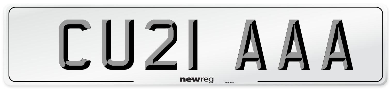 CU21 AAA Number Plate from New Reg