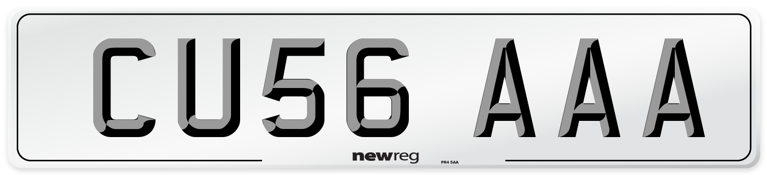CU56 AAA Number Plate from New Reg