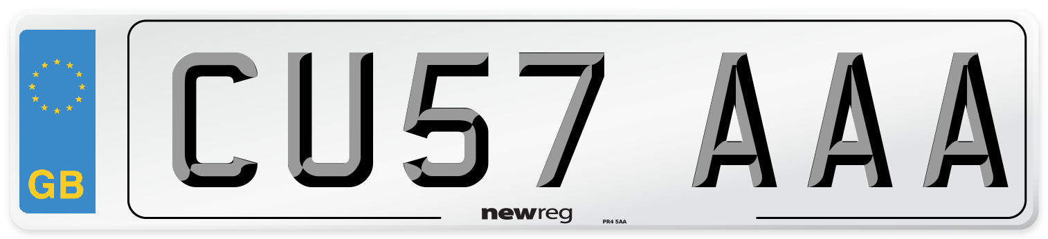CU57 AAA Number Plate from New Reg