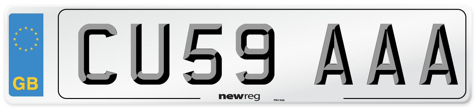 CU59 AAA Number Plate from New Reg