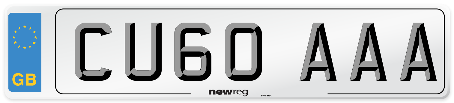 CU60 AAA Number Plate from New Reg