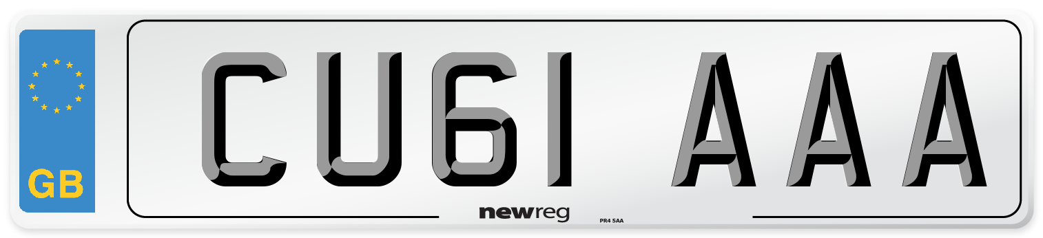 CU61 AAA Number Plate from New Reg
