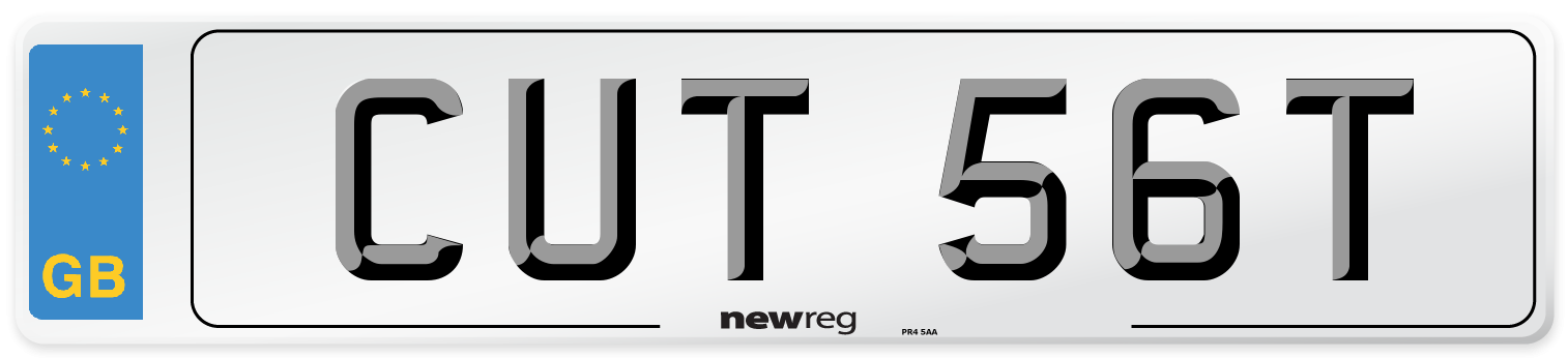 CUT 56T Number Plate from New Reg