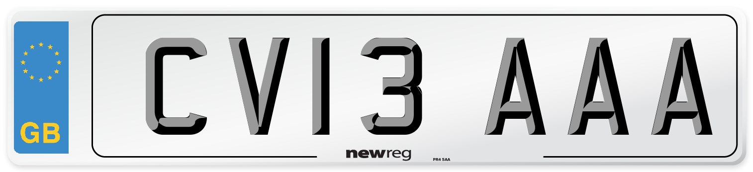 CV13 AAA Number Plate from New Reg