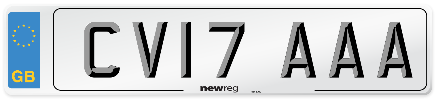 CV17 AAA Number Plate from New Reg