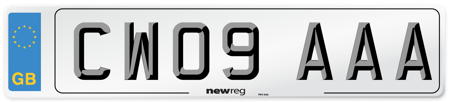 CW09 AAA Number Plate from New Reg