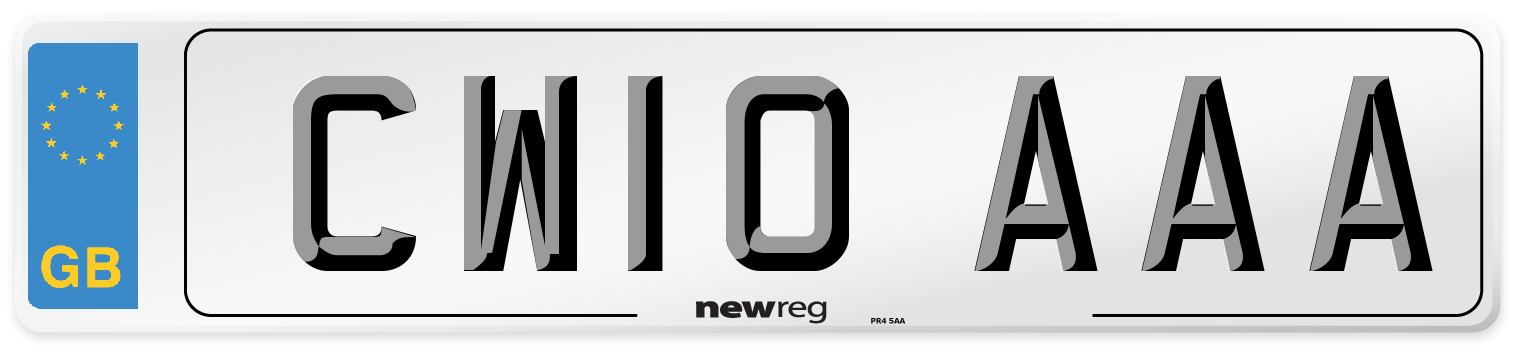CW10 AAA Number Plate from New Reg