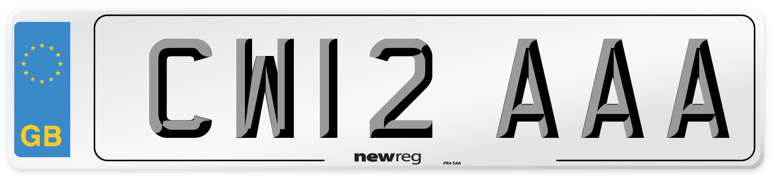 CW12 AAA Number Plate from New Reg