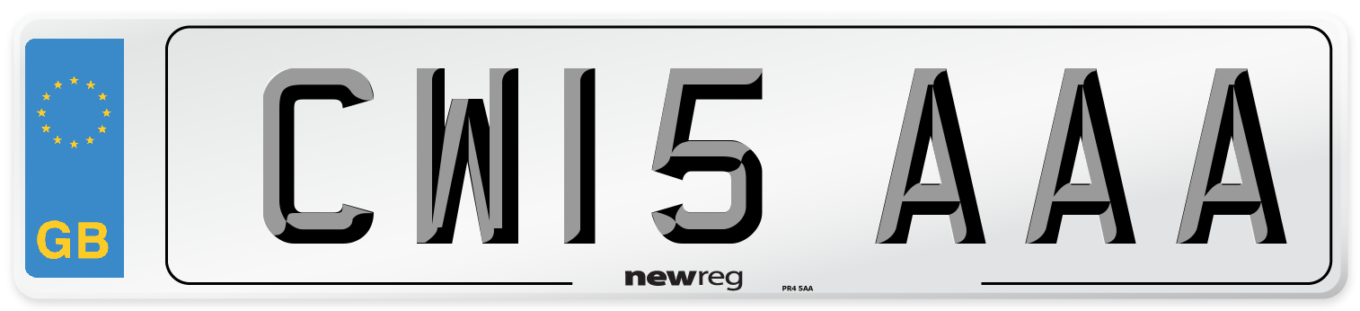 CW15 AAA Number Plate from New Reg