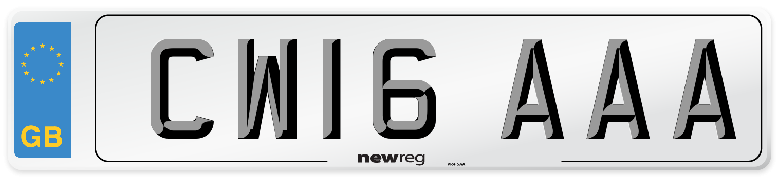 CW16 AAA Number Plate from New Reg