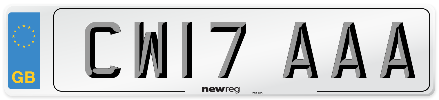 CW17 AAA Number Plate from New Reg