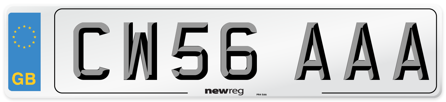 CW56 AAA Number Plate from New Reg