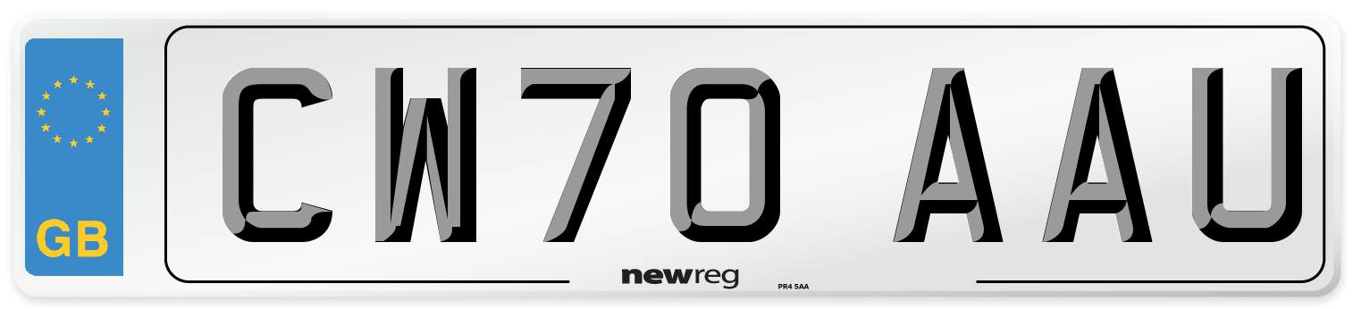 CW70 AAU Number Plate from New Reg