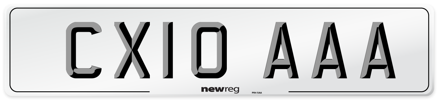 CX10 AAA Number Plate from New Reg