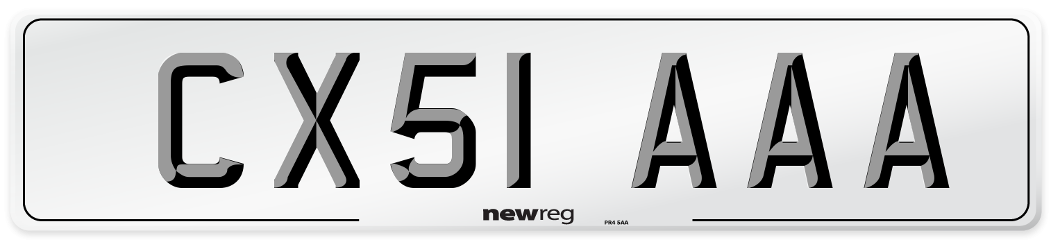 CX51 AAA Number Plate from New Reg