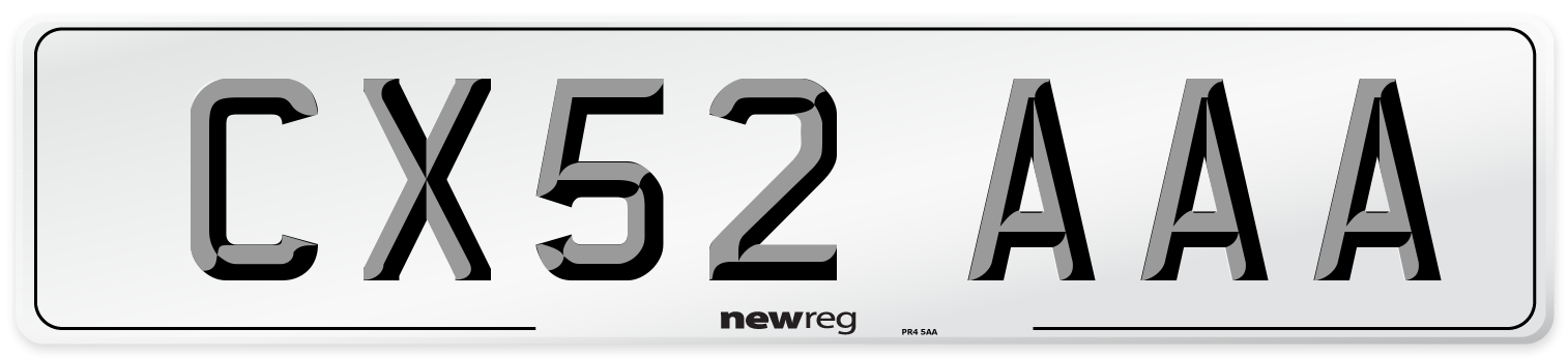 CX52 AAA Number Plate from New Reg