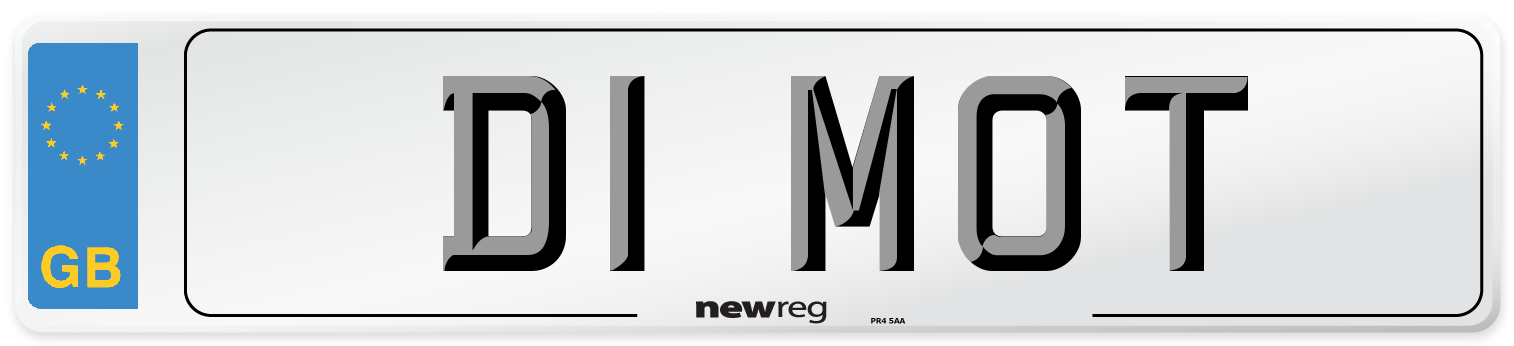D1 MOT Number Plate from New Reg