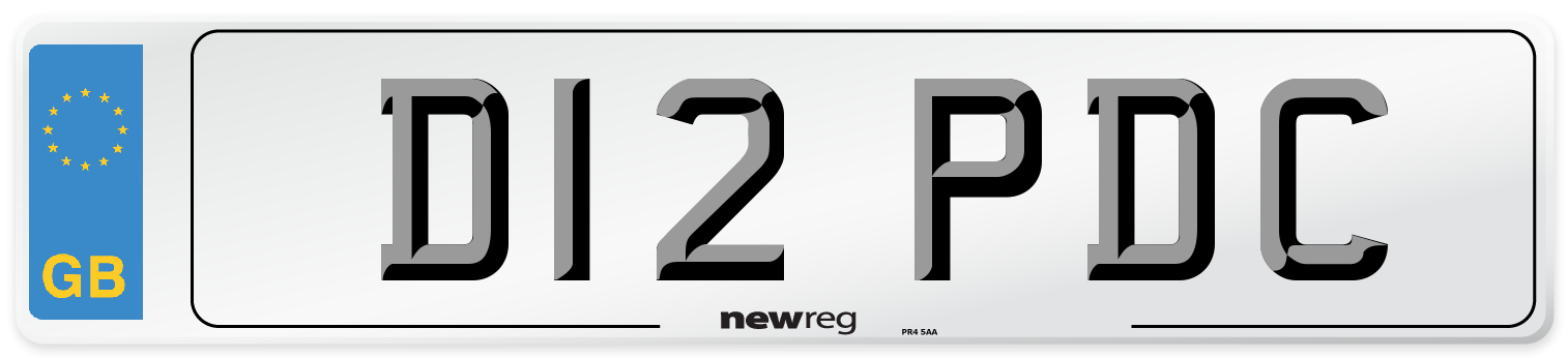 D12 PDC Number Plate from New Reg