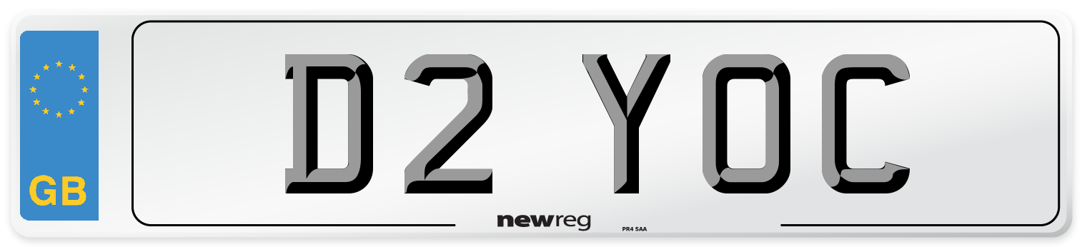 D2 YOC Number Plate from New Reg