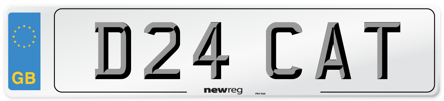 D24 CAT Number Plate from New Reg