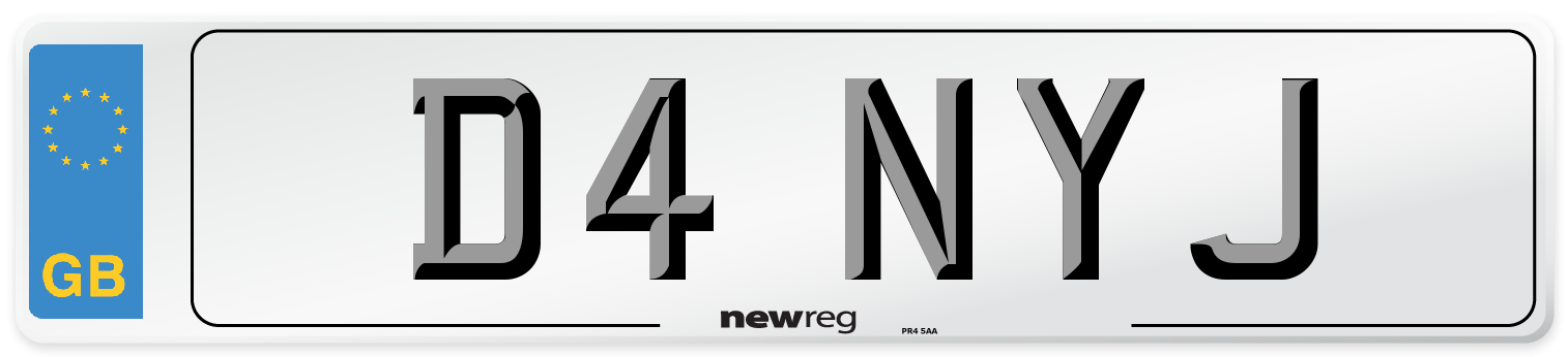 D4 NYJ Number Plate from New Reg