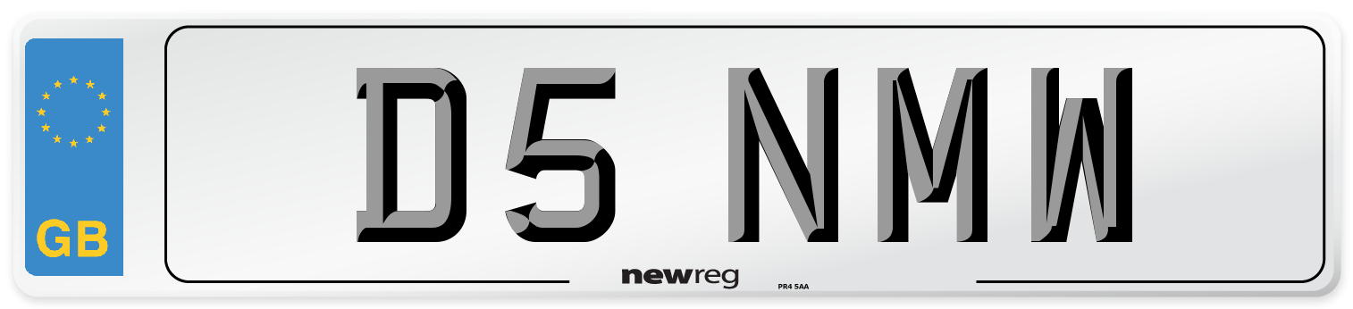D5 NMW Number Plate from New Reg