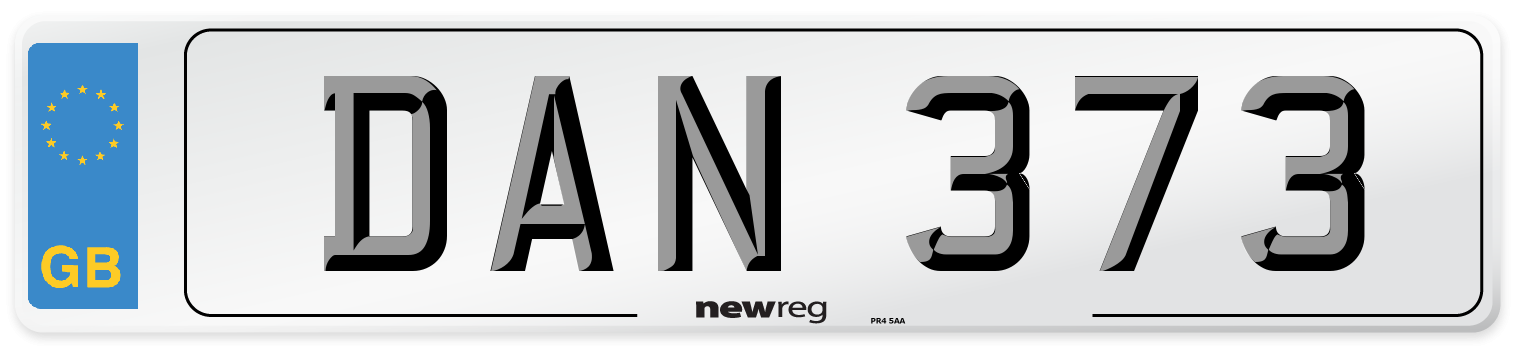 DAN 373 Number Plate from New Reg