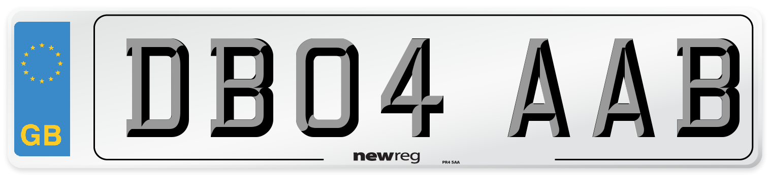 DB04 AAB Number Plate from New Reg
