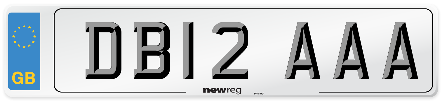 DB12 AAA Number Plate from New Reg