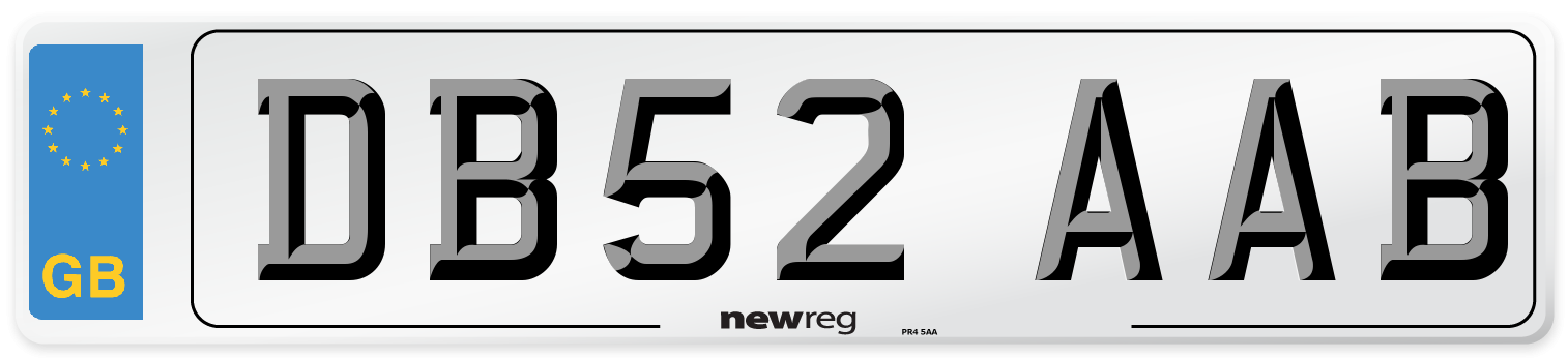 DB52 AAB Number Plate from New Reg