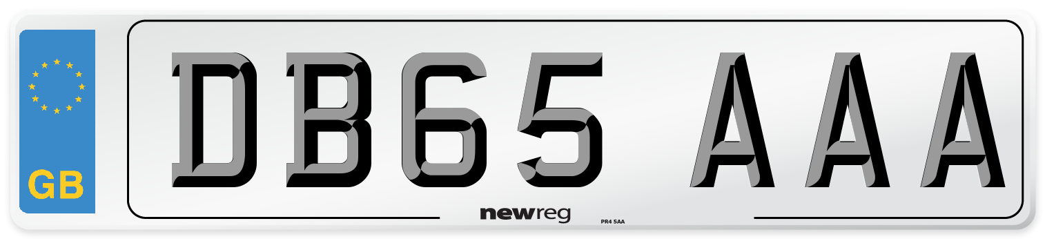 DB65 AAA Number Plate from New Reg