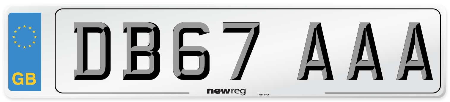 DB67 AAA Number Plate from New Reg