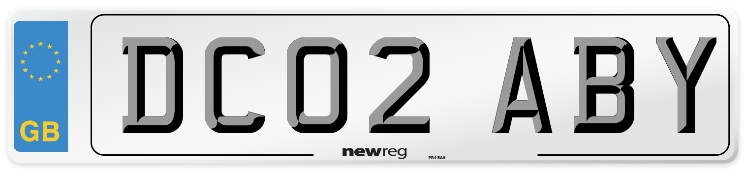DC02 ABY Number Plate from New Reg