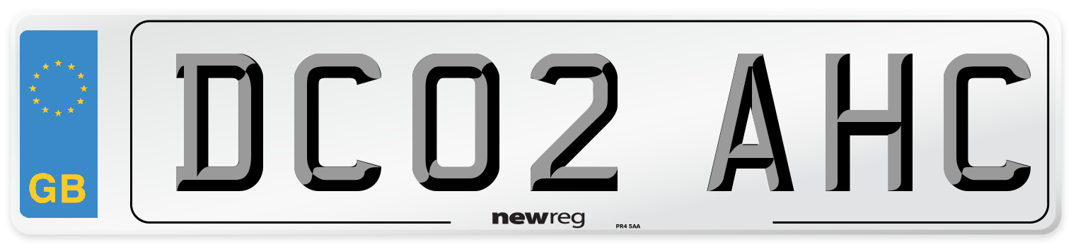 DC02 AHC Number Plate from New Reg