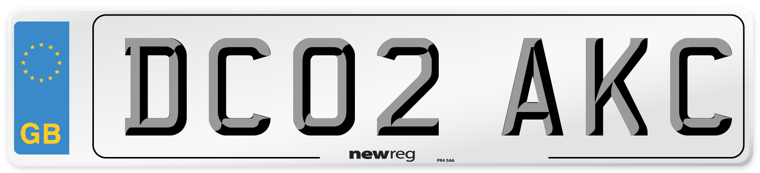 DC02 AKC Number Plate from New Reg