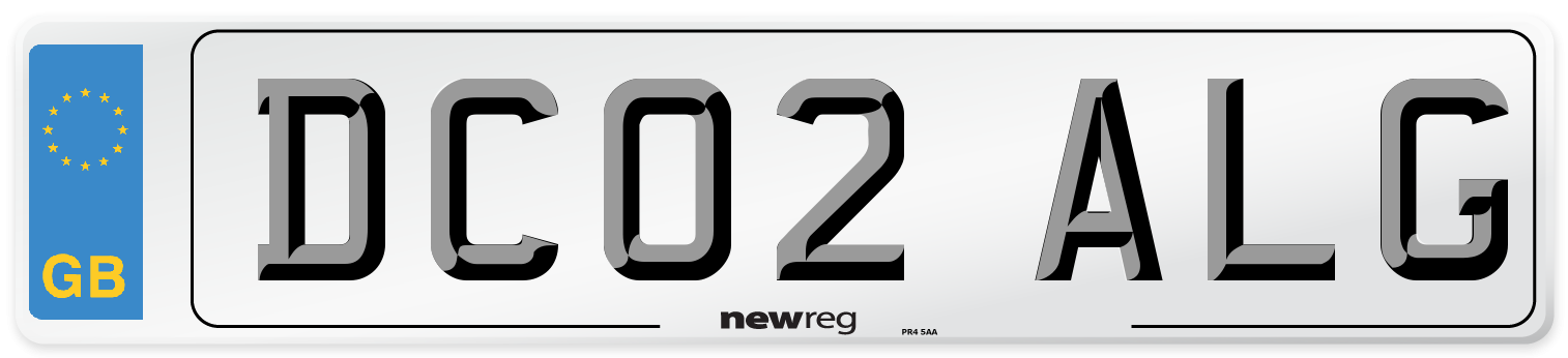 DC02 ALG Number Plate from New Reg