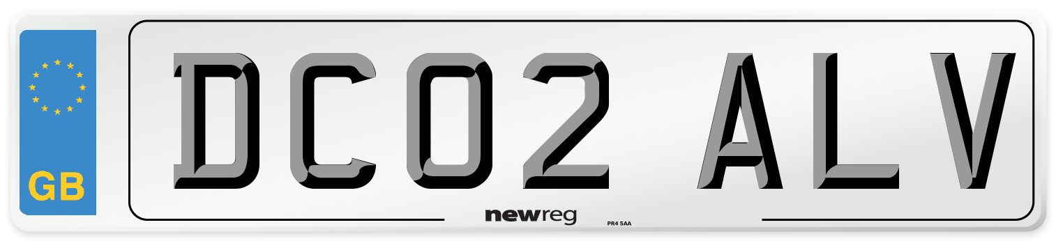 DC02 ALV Number Plate from New Reg
