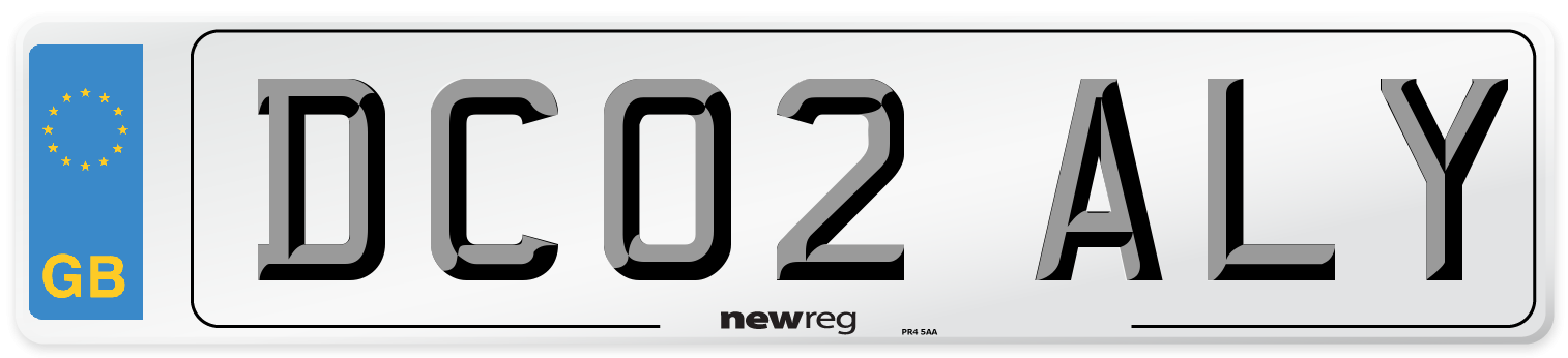 DC02 ALY Number Plate from New Reg
