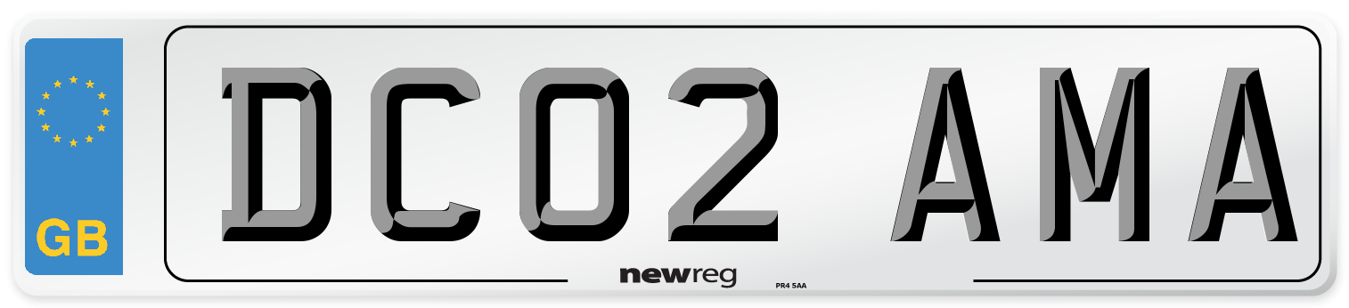 DC02 AMA Number Plate from New Reg