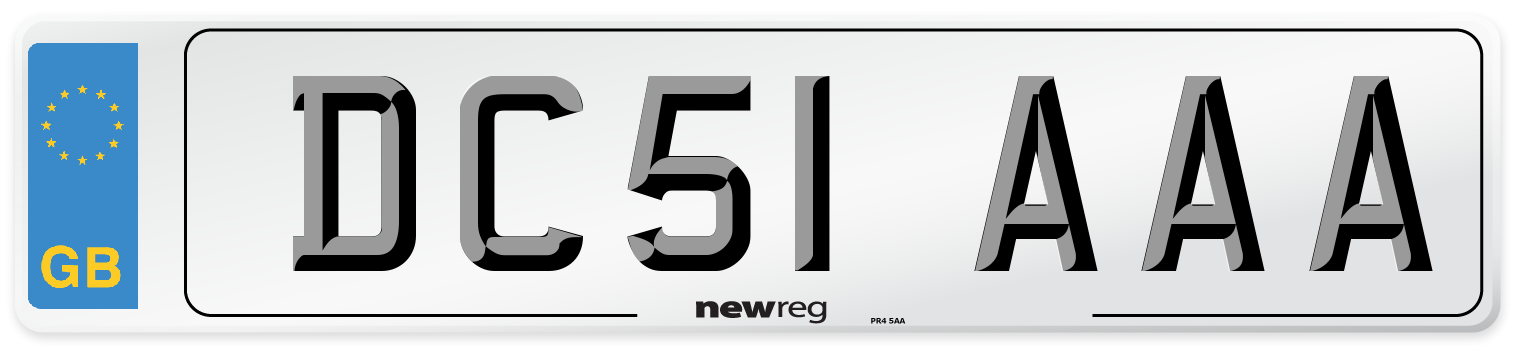 DC51 AAA Number Plate from New Reg