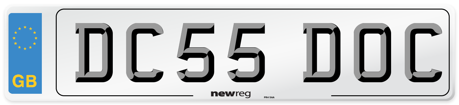 DC55 DOC Number Plate from New Reg
