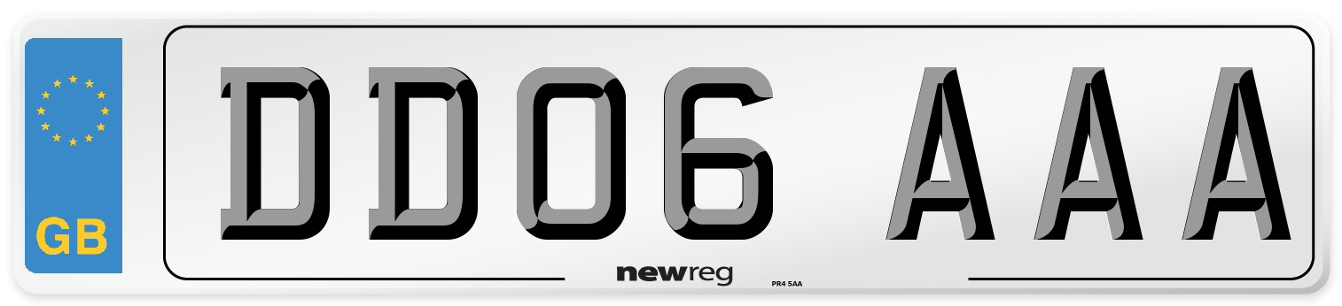 DD06 AAA Number Plate from New Reg